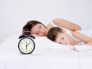mother and son sleeping